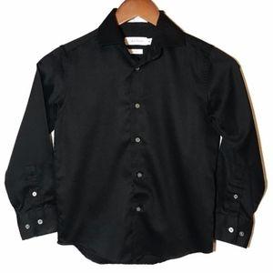 Calvin Klein Black Sateen Button Up Shirt A07017